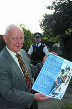 G&NM CSG Vice-Chairman Ian Wallace shows the anti-social behaviour leaflet