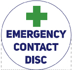 Emergency Contact Information Disc logo