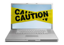 Laptop warning logo